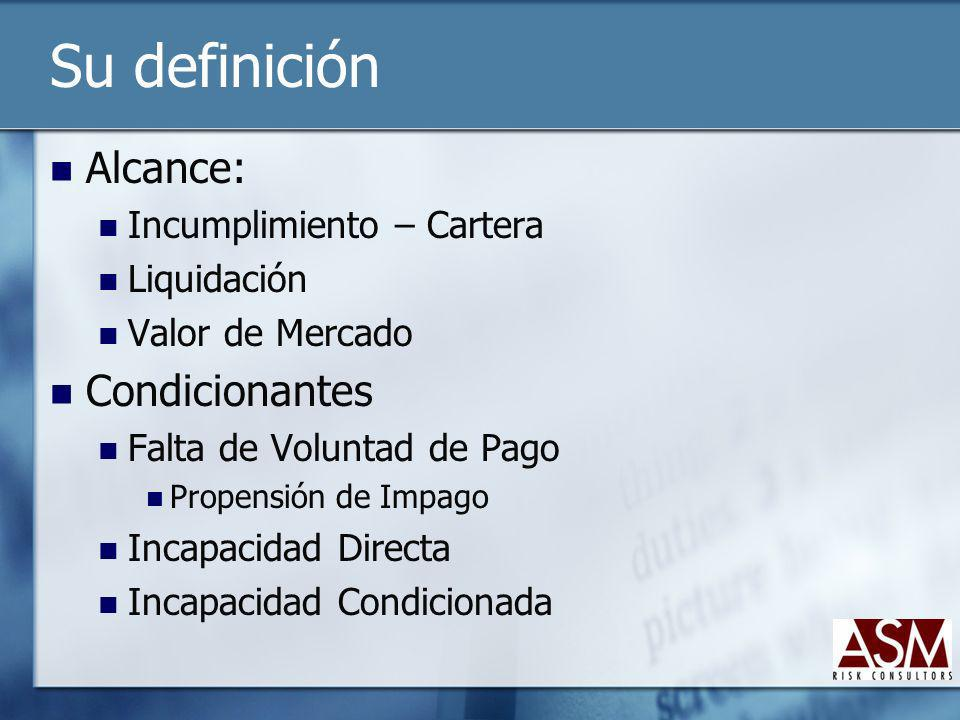 Su definición Variable Objetivo Colapso Liquidez Pérdidas Objetivos Relación Estructural Independiente Relacionado con Riesgo de Liquidez Relacionado con Riesgo de Mercado Relacionado con Riesgo Operacional