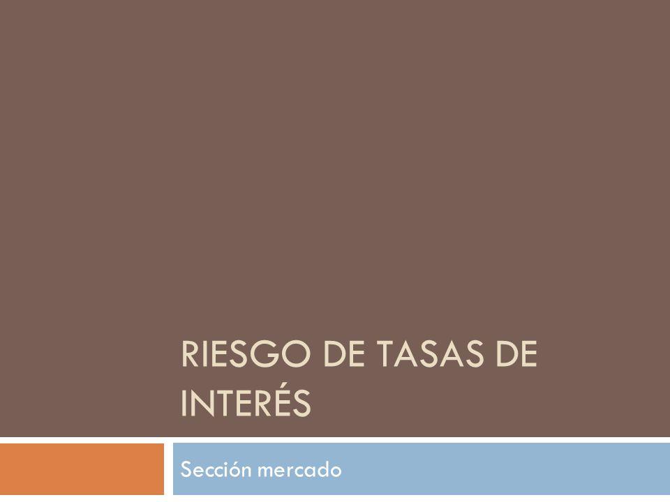RIESGO DE TASAS DE INTERÉS Sección mercado