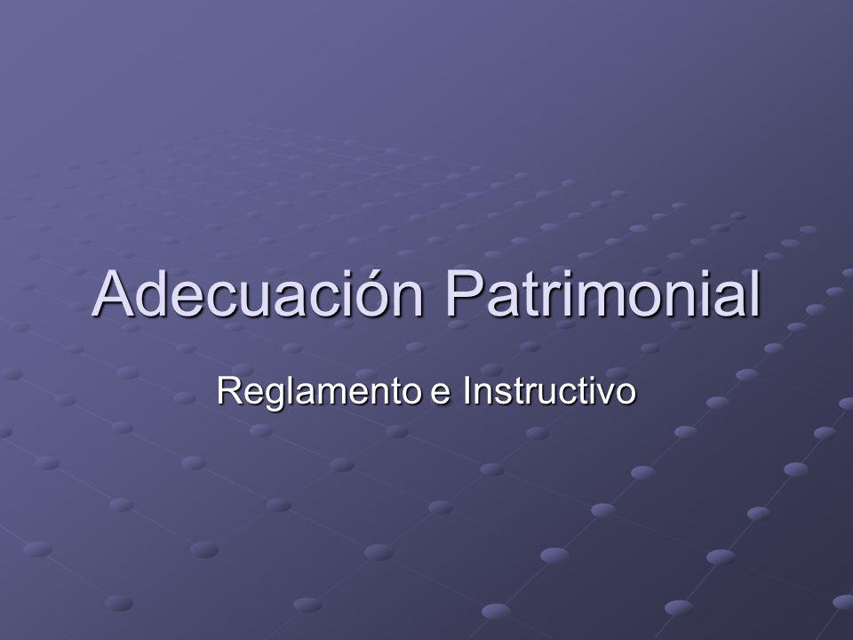 Adecuación Patrimonial Reglamento e Instructivo