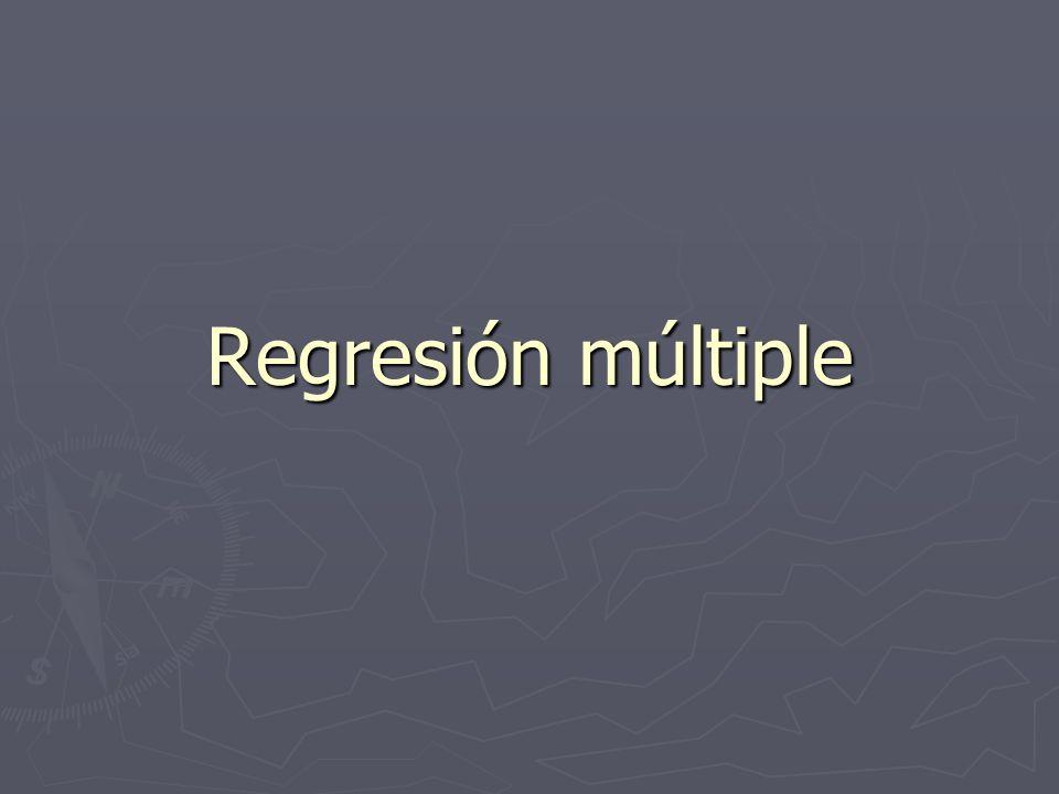 Regresión múltiple