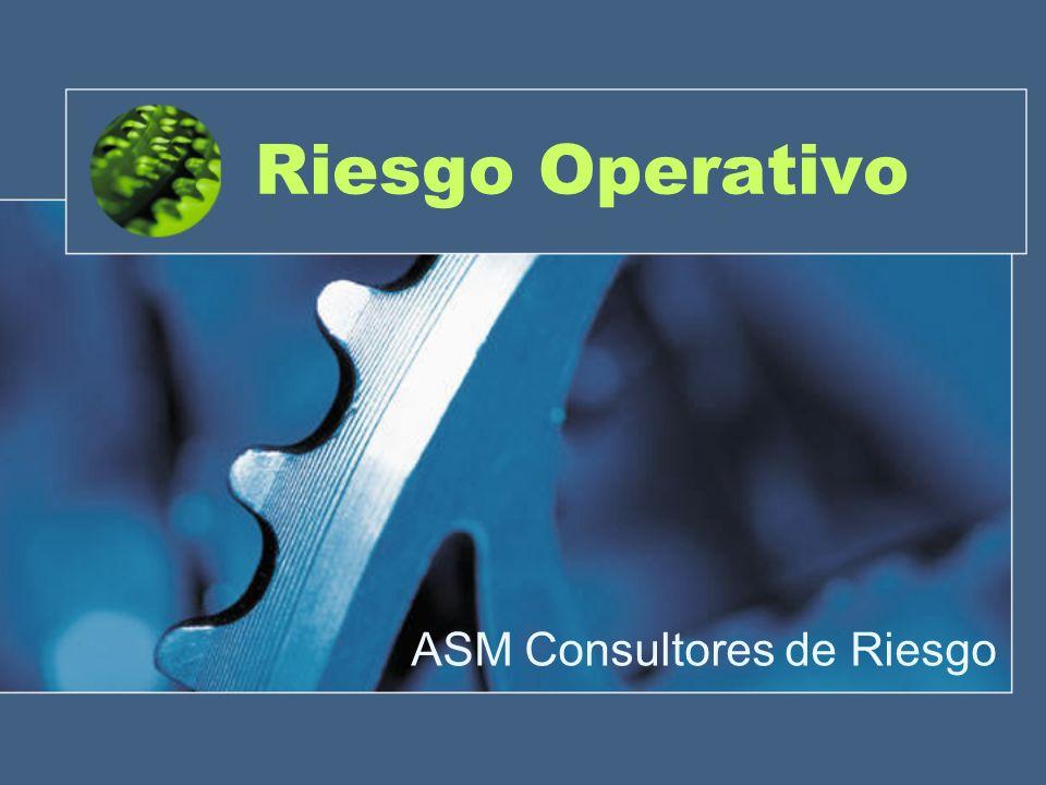 ¿Qué es Riesgo Operativo Concepción tradicional de Riesgo Operacional:...todo aquello que no era ni riesgo de crédito, ni riesgo de mercado Jorion (2006): 60% riesgo de crédito, un 25% al operacional y un 15% al de mercado; Cruz (2002): 50%, 35%, 15% Crouhy et al.