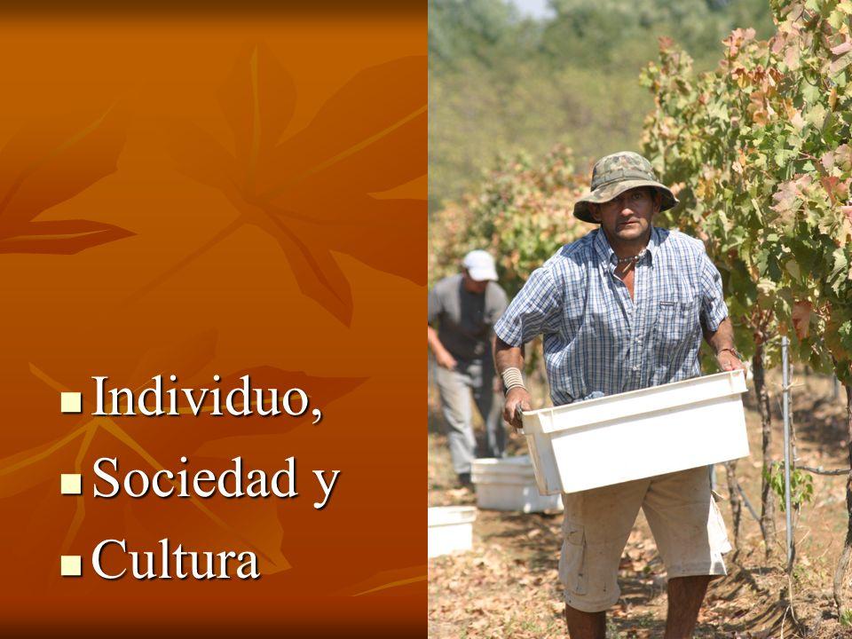Individuo, Individuo, Sociedad y Sociedad y Cultura Cultura