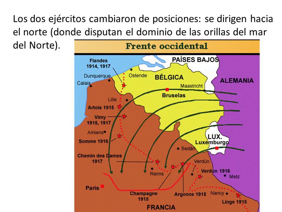 Los dos ejércitos cambiaron de posiciones: se dirigen hacia el norte (donde disputan el dominio de las orillas del mar del Norte).