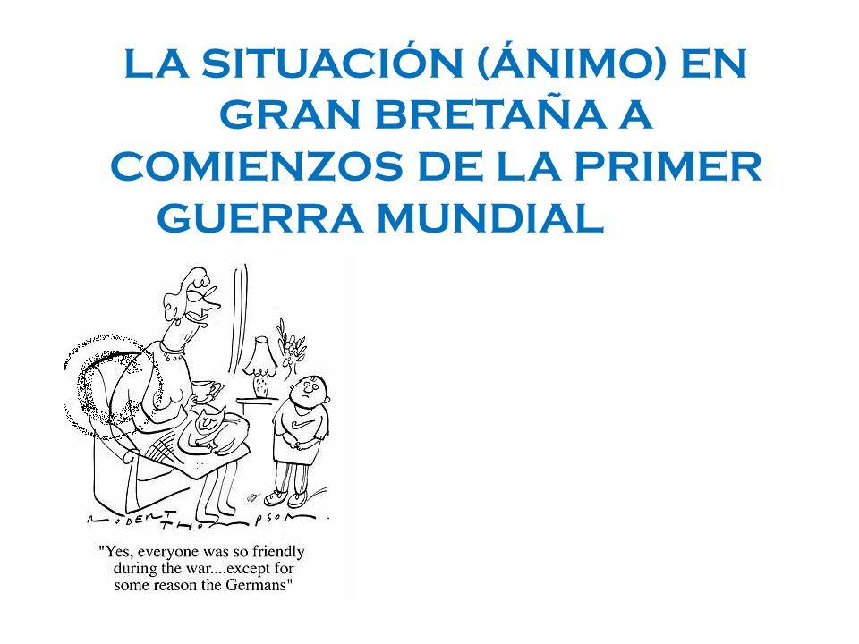 LA SITUACIÓN (ÁNIMO) EN GRAN BRETAÑA A COMIENZOS DE LA PRIMER GUERRA MUNDIALWAR St. Brendans School 2nd form Ms. Adriana Assandri