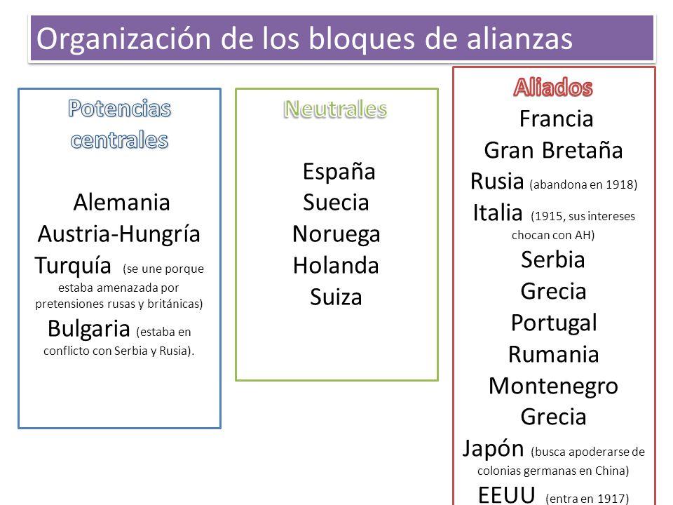Organización de los bloques de alianzas