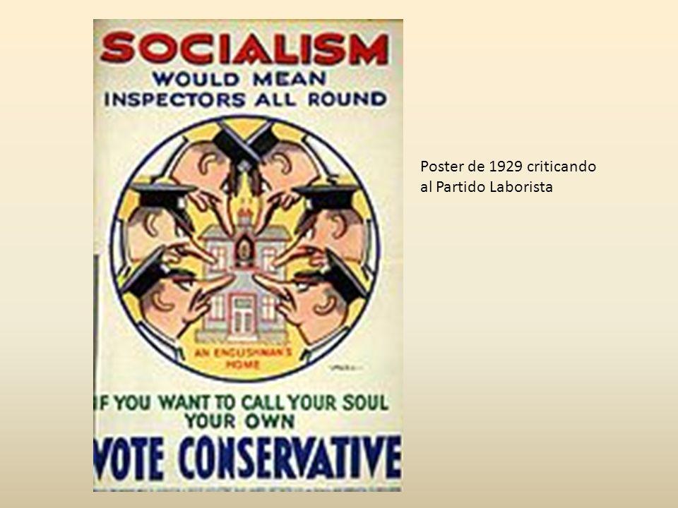 Poster de 1929 criticando al Partido Laborista