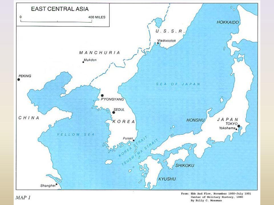 Corea: anexada a Japón en 1910 1945 Japón vencido: Corea ocupada militarmente por fuerzas de la URSS y USA.
