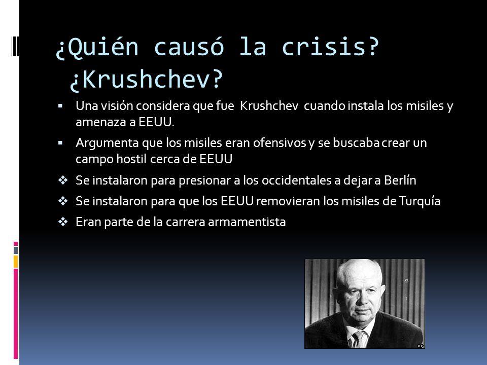 28 de octubre: Krushchev acepta retirar los misiles de Cuba Con el objetivo de eliminar la amenaza de una guerra, el gobierno soviético ha dado una nu