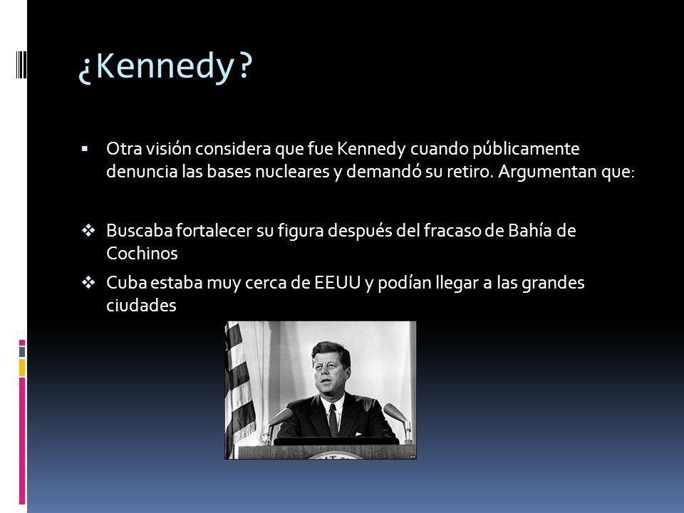 ¿Quién causó la crisis? ¿Krushchev? Una visión considera que fue Krushchev cuando instala los misiles y amenaza a EEUU. Argumenta que los misiles eran