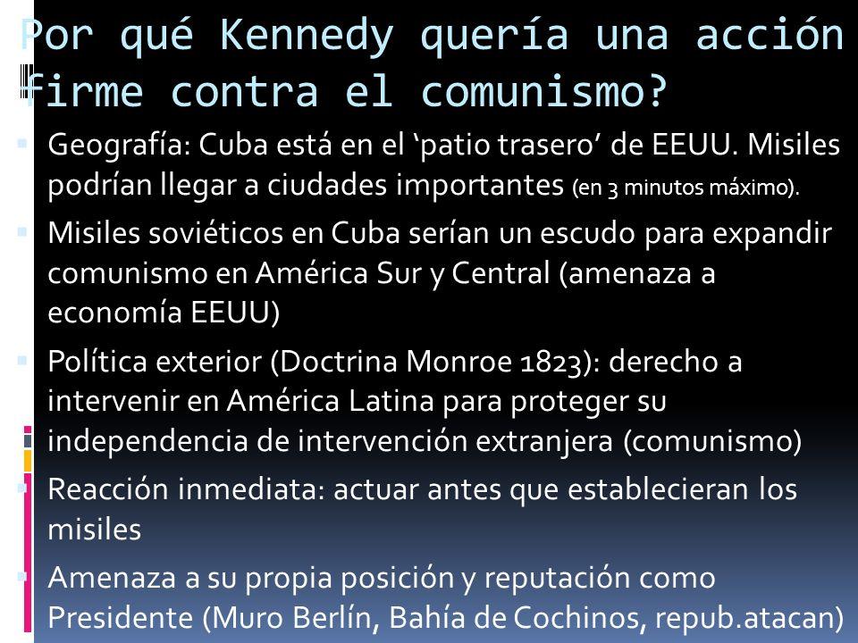 ¿Cómo empieza la crisis? El 14 de octubre 1962 : un avión espía norteamericano toma fotografías de bases nucleares en construcción en Cuba y a barcos