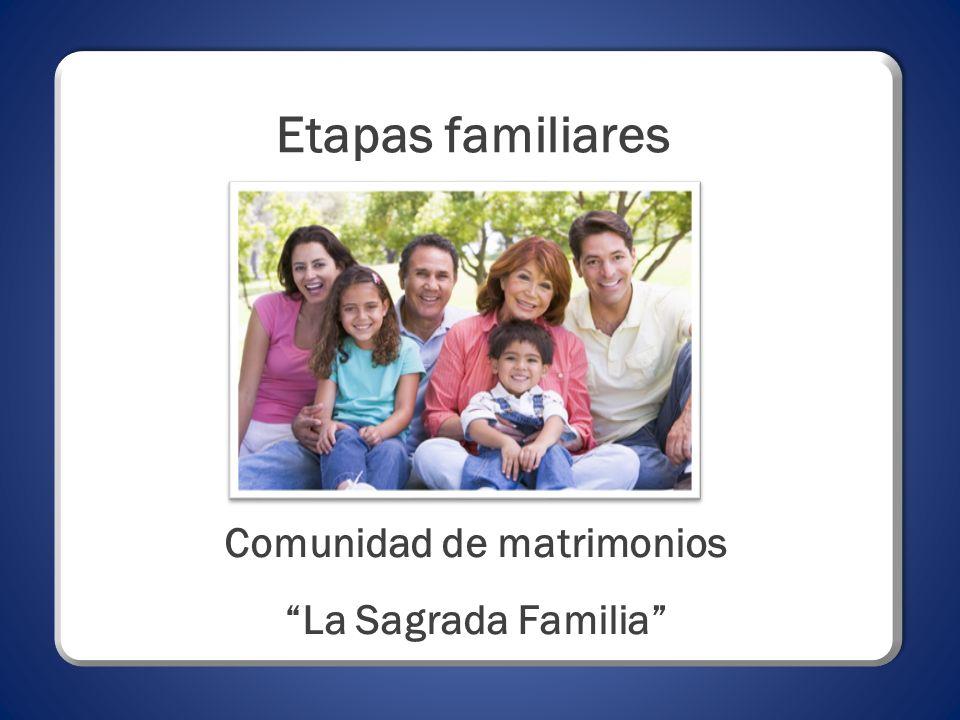 Etapas familiares Comunidad de matrimonios La Sagrada Familia