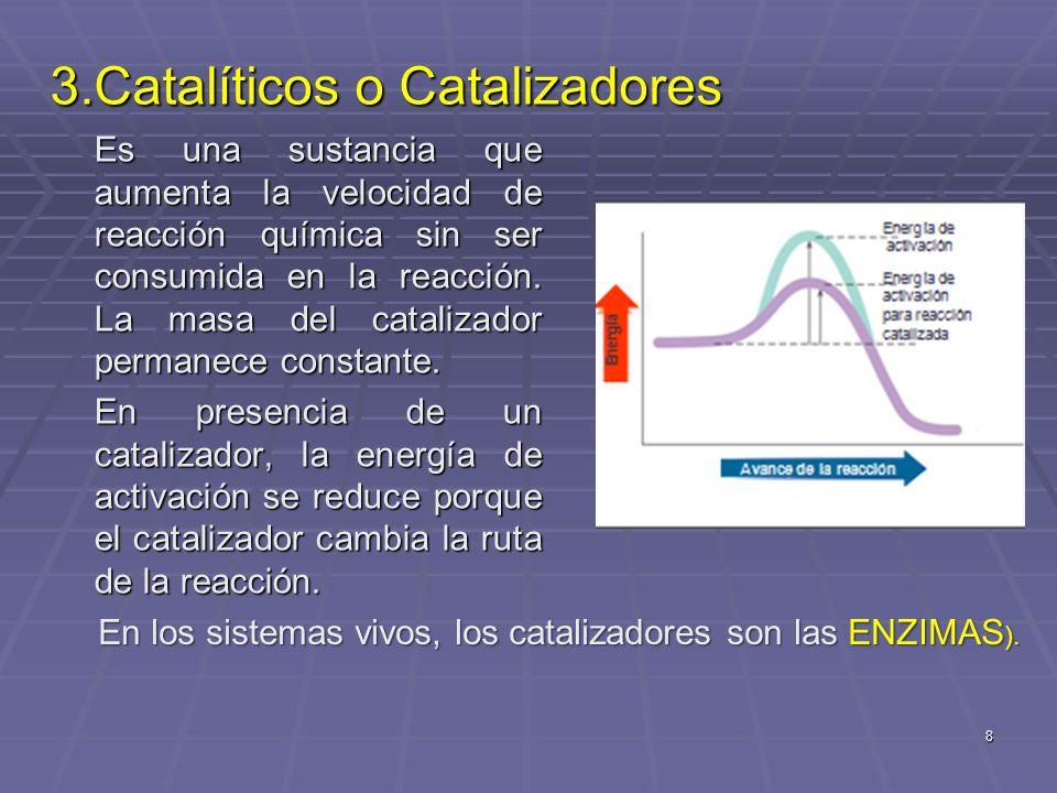 19 Concentración Concentración Si se aumenta la [ ] de los reactivos el equilibrio se desplaza a mayor formación de productos.