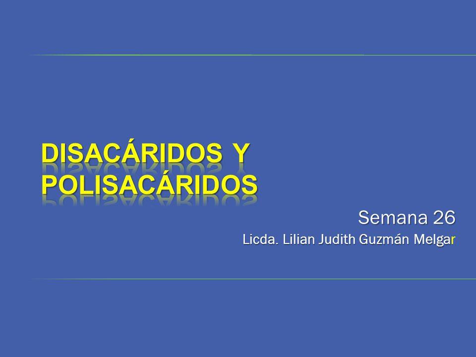 Semana 26 Licda. Lilian Judith Guzmán Melga Licda. Lilian Judith Guzmán Melgar