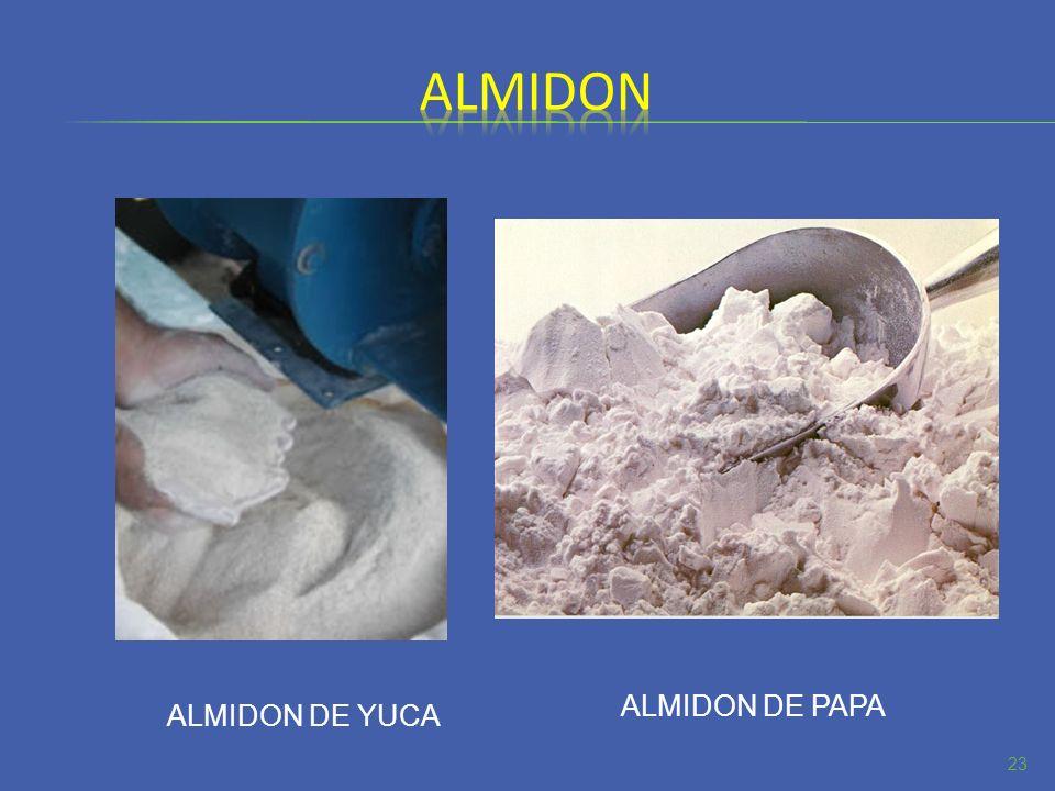 23 ALMIDON DE YUCA ALMIDON DE PAPA