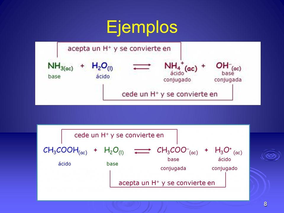 19 Acidas En soluciones Acidas: [H + ] es mayor 1.0x10 -7 Alcalinas En soluciones Alcalinas:[H + ] es menor 1.0x10 -7 Neutras: En soluciones Neutras: [H + ] es igual a 1.0x10 -7 Ejemplo : Una muestra de bilis tiene una [OH - ] de 1.0 x10 -5 ¿Cuál es la [H + ] ?