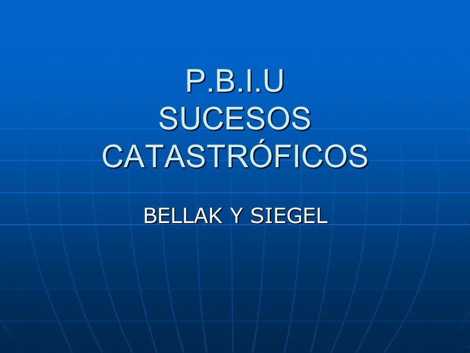 P.B.I.U SUCESOS CATASTRÓFICOS BELLAK Y SIEGEL