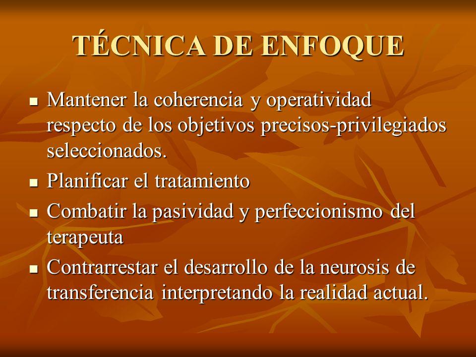 MODELO TEÓRICO DE ESTRUCTURA DEL FOCO (FIORINI) Todo foco tiene un eje central que por lo general es el motivo de consulta.