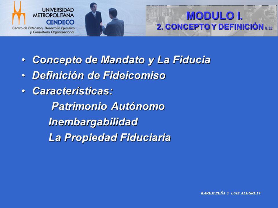 Concepto de Mandato y La FiduciaConcepto de Mandato y La Fiducia Definición de FideicomisoDefinición de Fideicomiso Características:Características: P