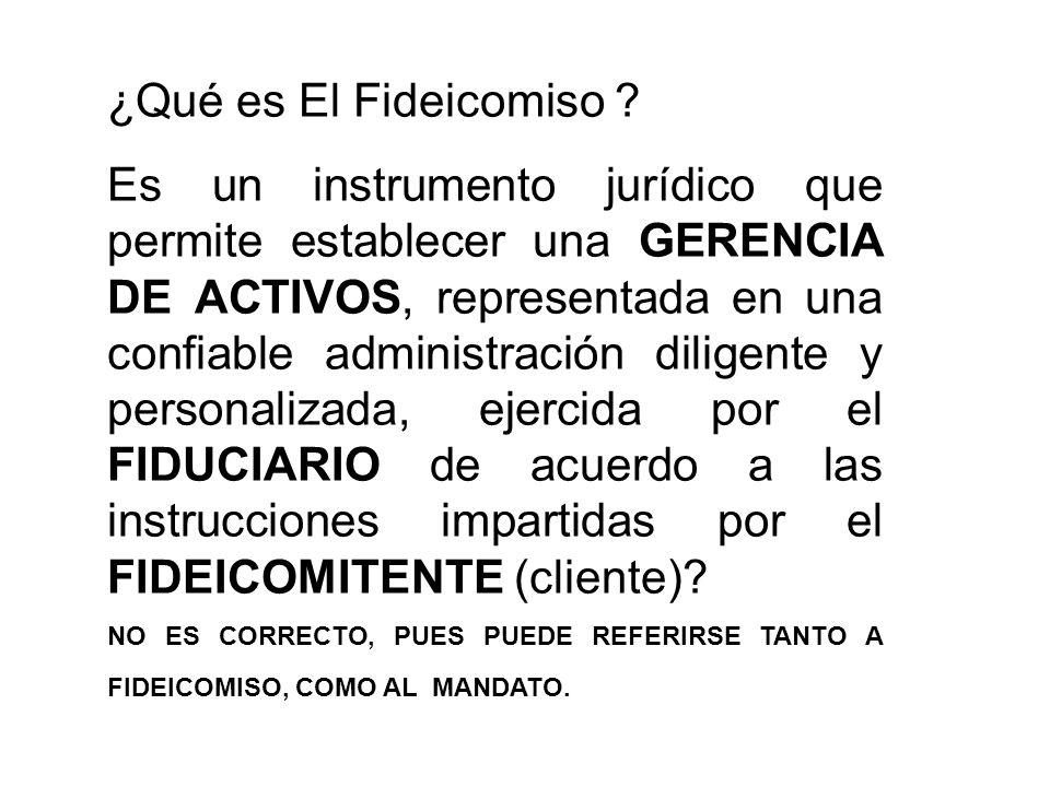 ¿Qué es El Fideicomiso .