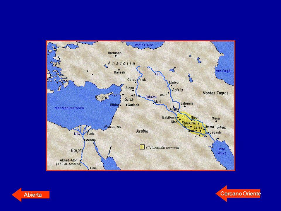 Sumerios (4000-3000 a.c) Asentados en el sur Detuvieron inundaciones Construyeron primera red de canales y acequias Se trasladaban en partidas de avanzada o exploración Conformaron ciudades-estado (Eridu,Ur, Uruk, Larsa, Lagash, Umma)Conformaron ciudades-estado (Eridu,Ur, Uruk, Larsa, Lagash, Umma) Creadores de la escritura cuneiformeescritura cuneiforme Establecieron bases sociales y económicas tomadas por otros pueblos
