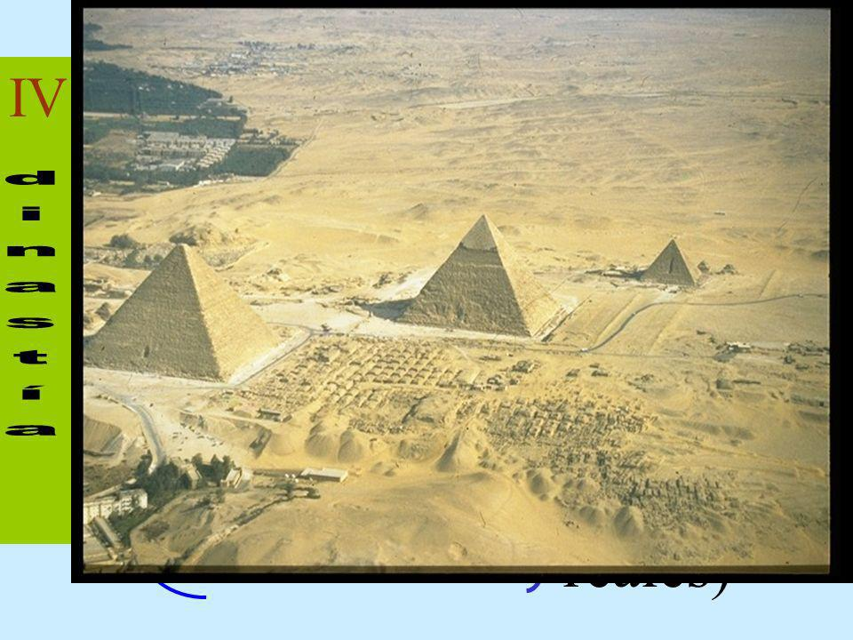 IV - Snefru - Kheops - Khefren - Micerino Grandes Pirámides (Tumbas reales)