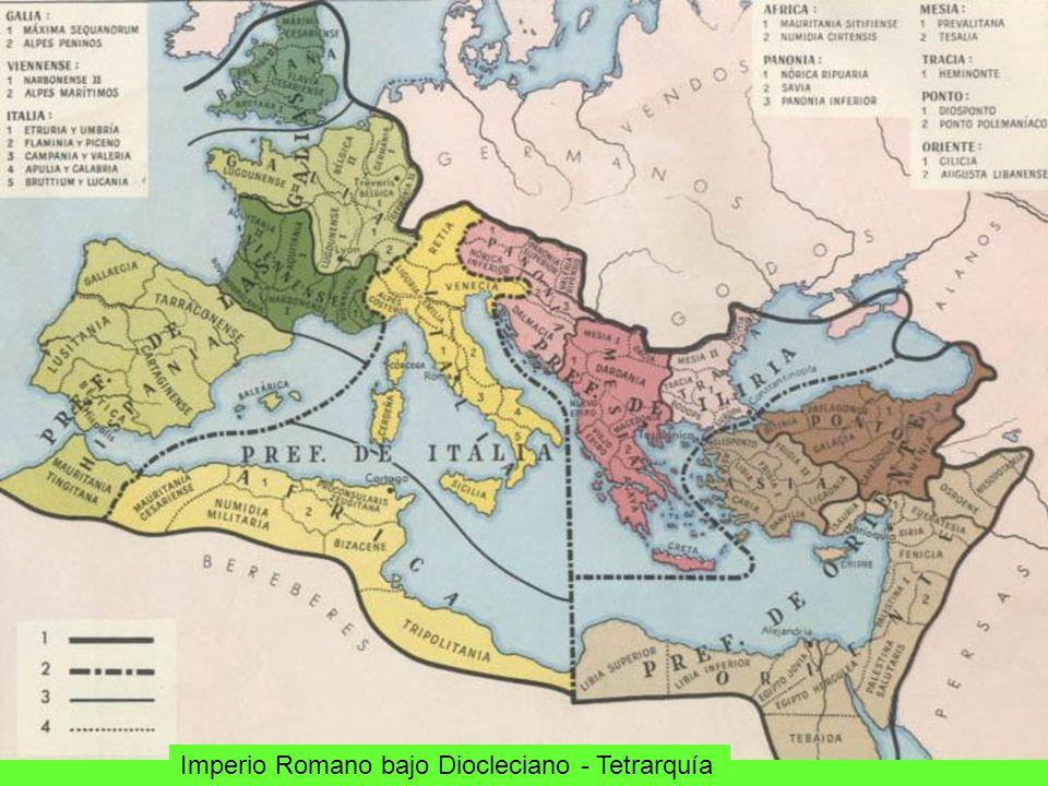 Imperio Romano bajo Diocleciano - Tetrarquía