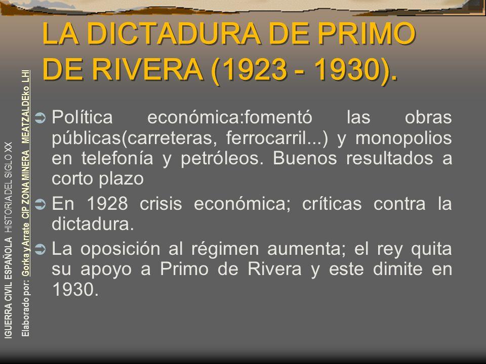 IGUERRA CIVIL ESPAÑOLA HISTORIA DEL SIGLO XX Elaborado por: Gorka y Arrate CIP ZONA MINERA MEATZALDEko LHIGorka y Arrate CIP ZONA MINERA MEATZALDEko L