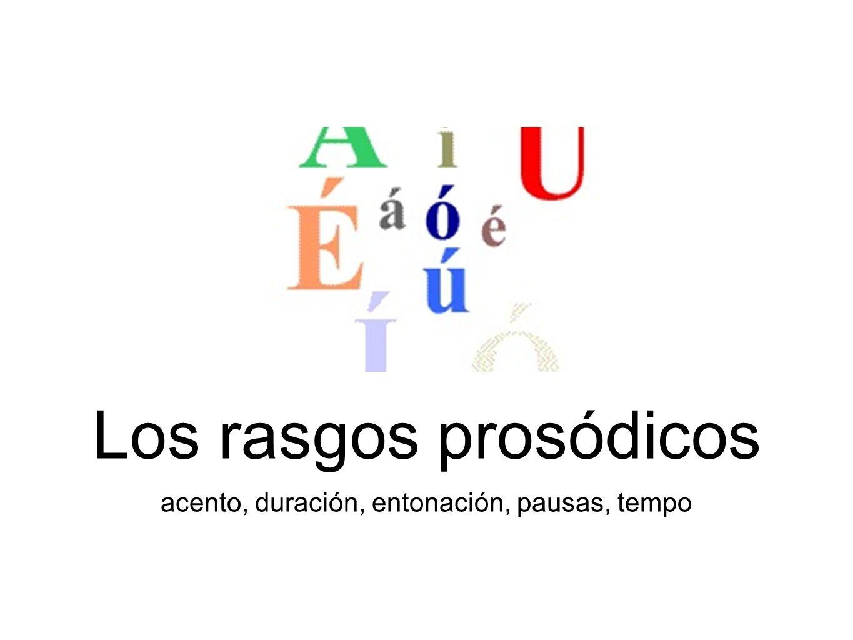 Los rasgos prosódicos son recursos vocales que se superponen a la articulación para expresar significados ¿Qué significa la secuencia.