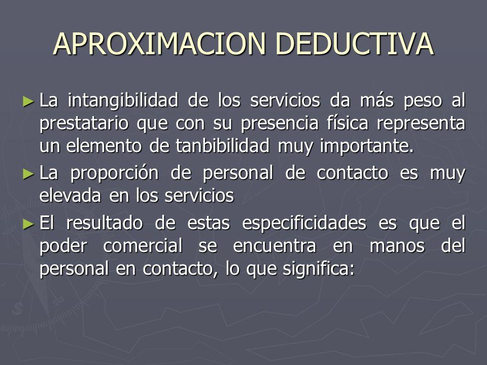 La intangibilidad de los servicios da más peso al prestatario que con su presencia física representa un elemento de tanbibilidad muy importante. La in