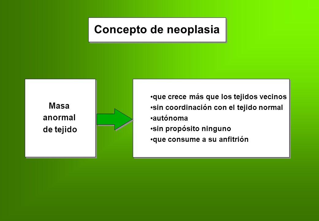 Neoplasia Malignidad histológica Malignidad biológica