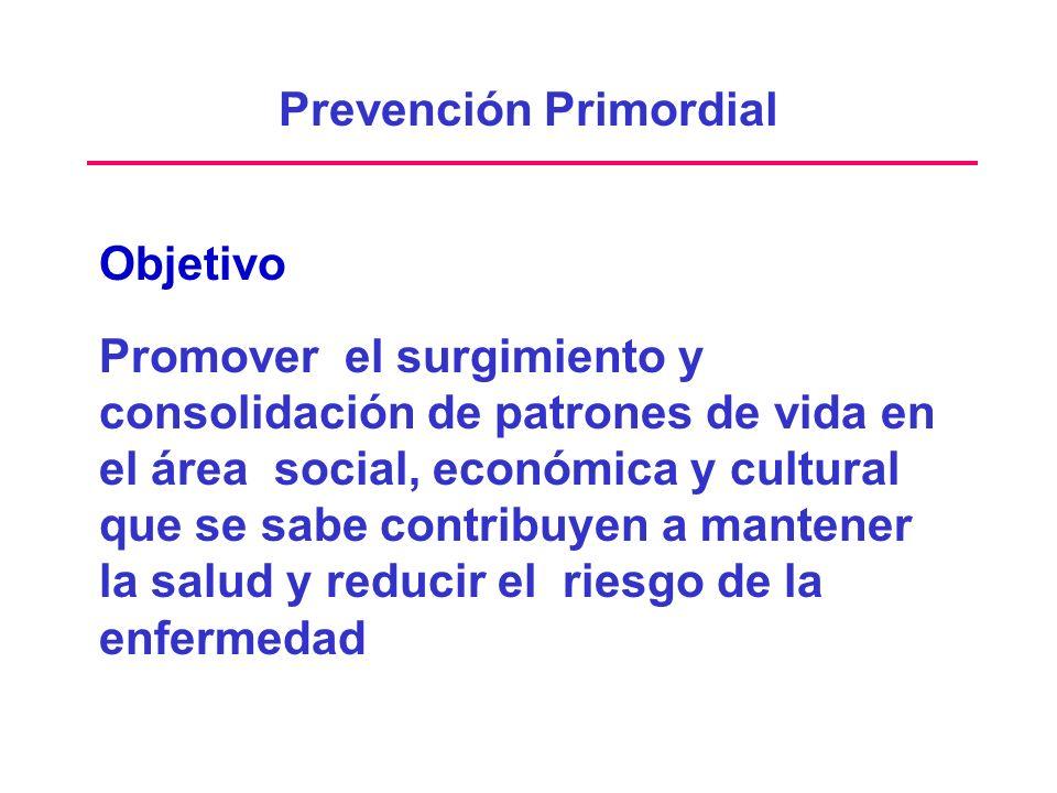 Objetivo Promover el surgimiento y consolidación de patrones de vida en el área social, económica y cultural que se sabe contribuyen a mantener la sal