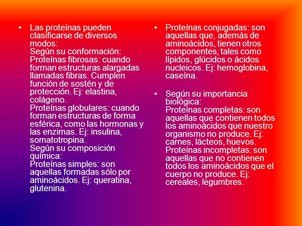 PROTEINAS Son sustancias cuaternarias, ya que están formadas por cuatro elementos: C, H, O y Nitrógeno (N). Las proteínas se ingieren a través de las