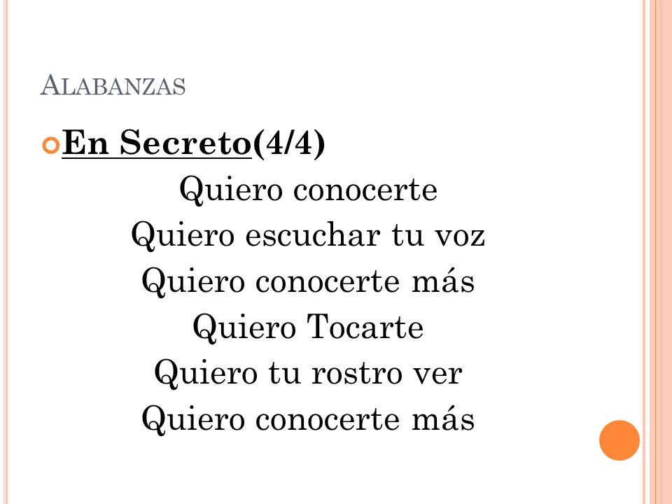 A LABANZAS En Secreto(4/4) Quiero conocerte Quiero escuchar tu voz Quiero conocerte más Quiero Tocarte Quiero tu rostro ver Quiero conocerte más