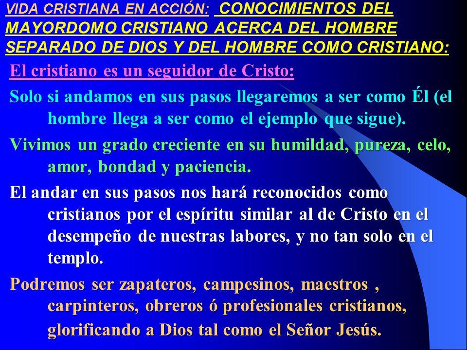 VIDA CRISTIANA EN ACCIÓN: CONOCIMIENTOS DEL MAYORDOMO CRISTIANO ACERCA DEL HOMBRE SEPARADO DE DIOS Y DEL HOMBRE COMO CRISTIANO: El cristiano es un seg