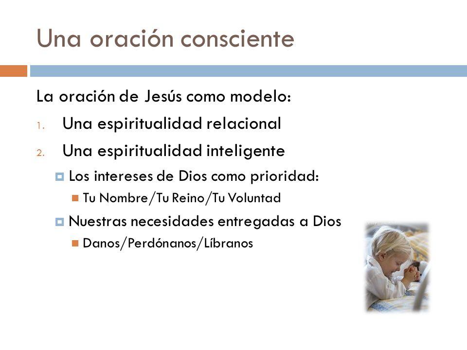 Una oración consciente La oración de Jesús como modelo: 3.