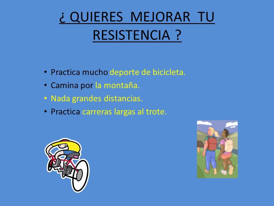 ¿ QUIERES MEJORAR TU RESISTENCIA .Practica mucho deporte de bicicleta.