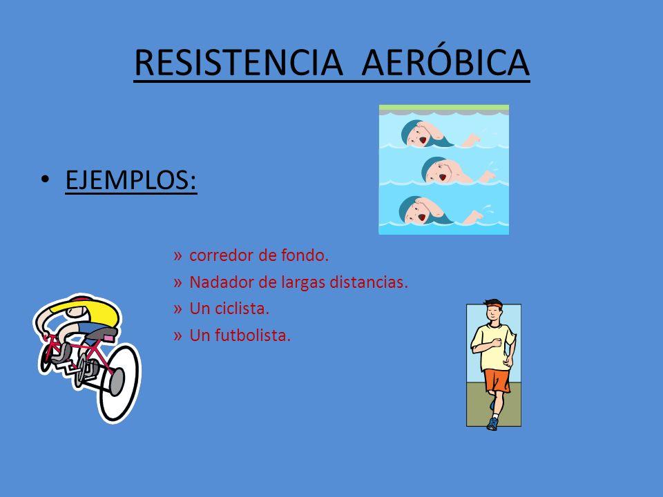 RESISTENCIA AERÓBICA EJEMPLOS: » corredor de fondo.