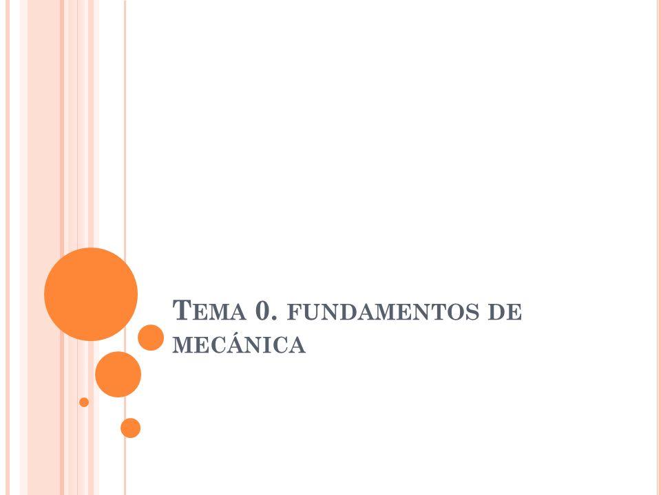 T EMA 0. FUNDAMENTOS DE MECÁNICA