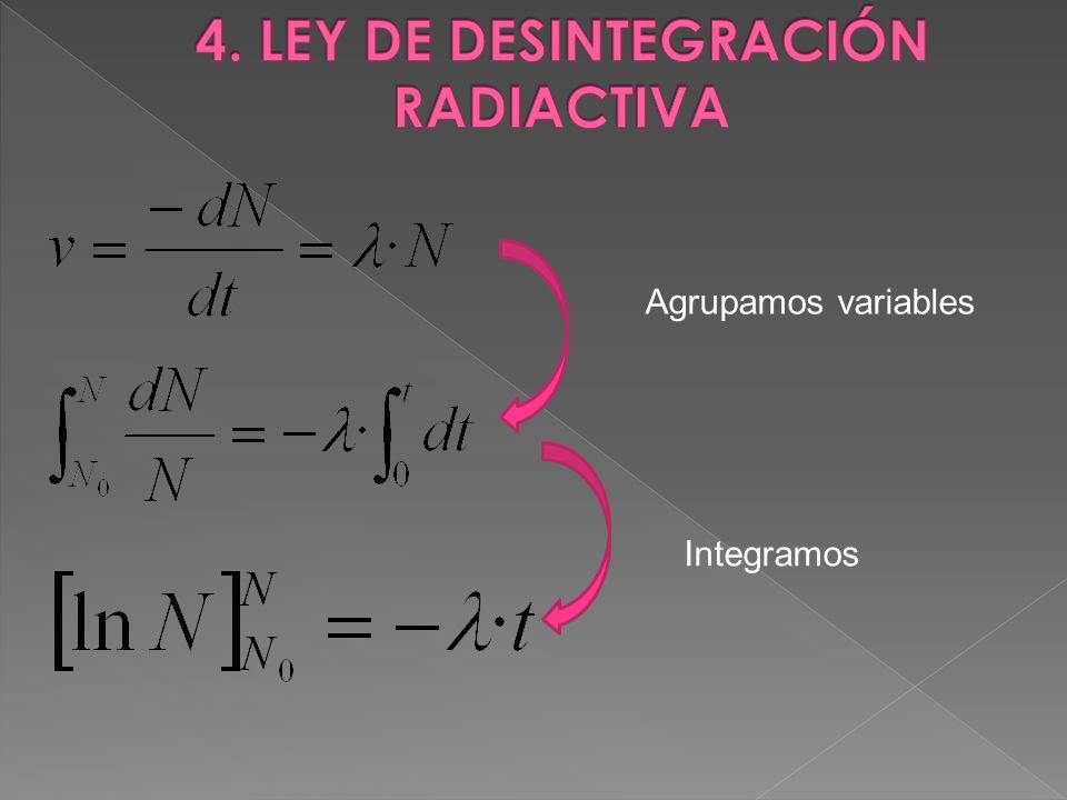 Agrupamos variables Integramos