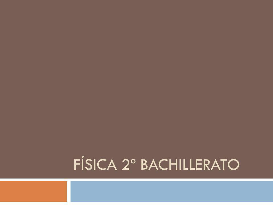 FÍSICA 2º BACHILLERATO