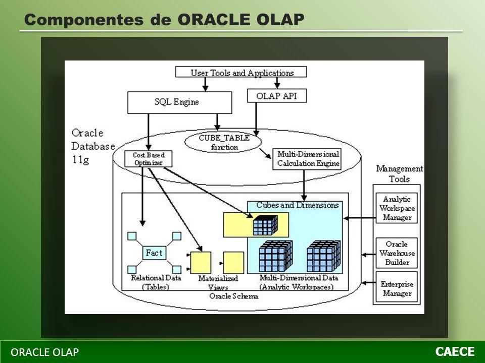 ORACLE OLAP CAECE Componentes de ORACLE OLAP