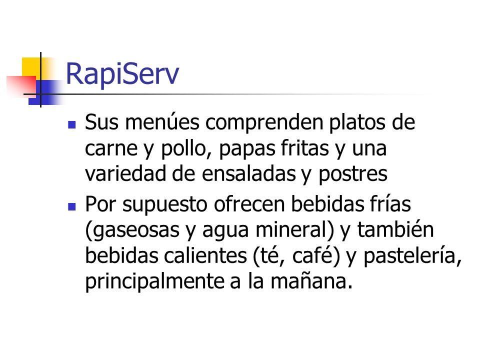 RapiServ Pero su plato distintivo es una especialidad que recibe el nombre de Cordon Bleu, una comida con carne y verduras que tiene bastante aceptación.