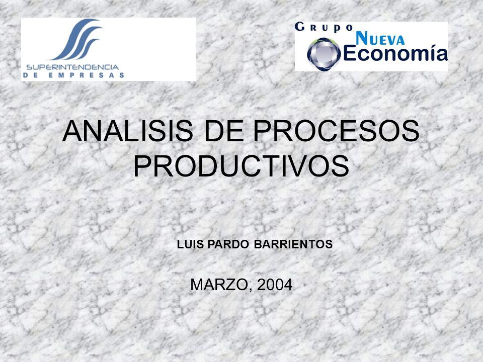 ANALISIS DE PROCESOS PRODUCTIVOS MARZO, 2004 LUIS PARDO BARRIENTOS