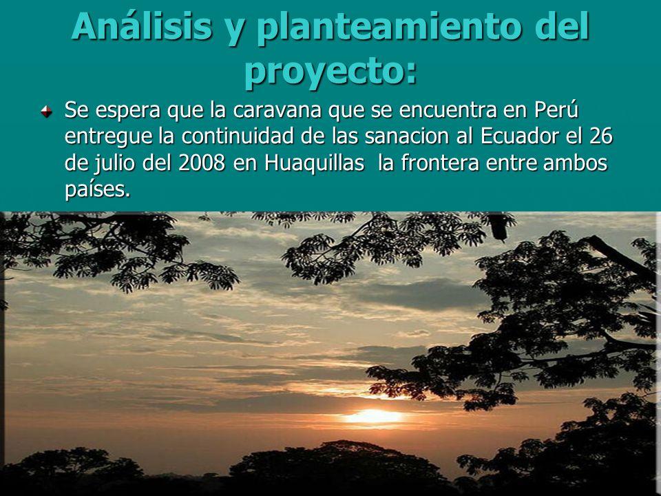 Análisis y planteamiento del proyecto: Se espera que la caravana que se encuentra en Perú entregue la continuidad de las sanacion al Ecuador el 26 de