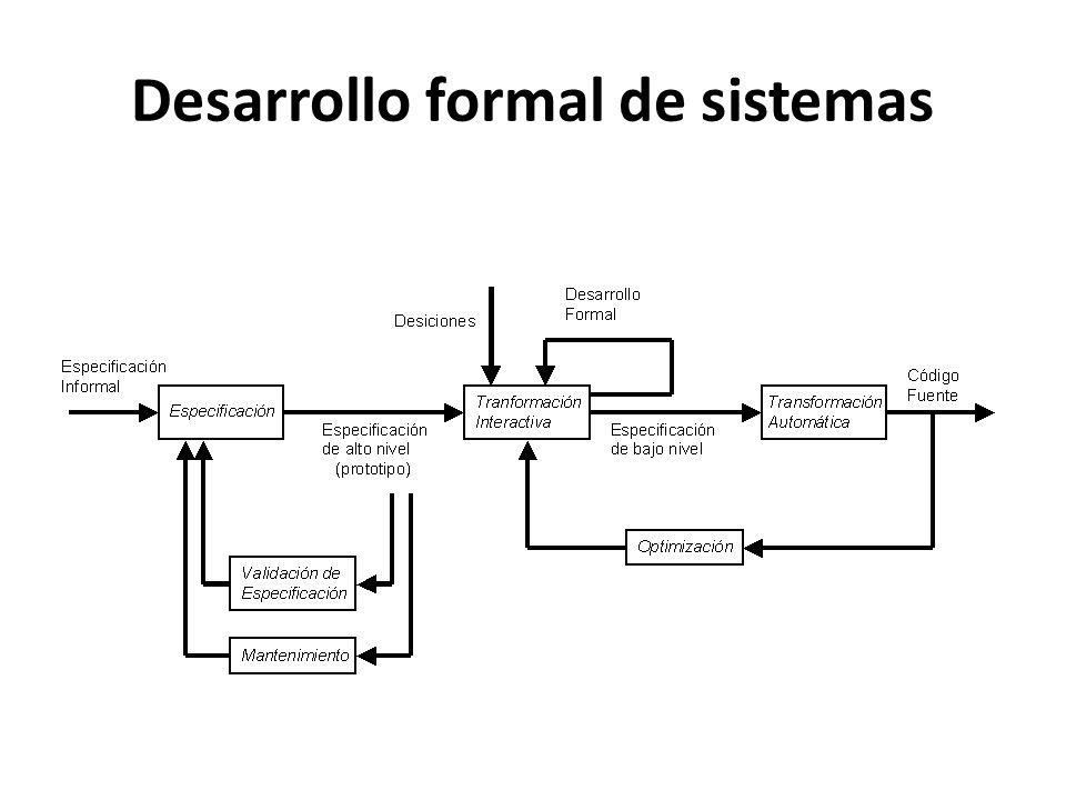 Desarrollo formal de sistemas