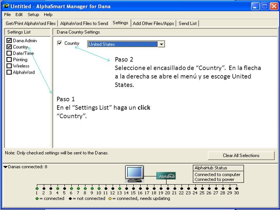 Paso 1 En el Settings List haga un click sobre Date/Time.