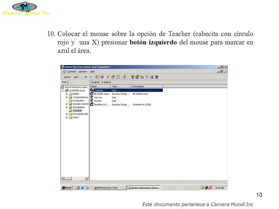 9 9.Colocar el mouse sobre el cartapacio de FACULTAD (se encuentra a mano izquierda de su monitor) y presionar un click.