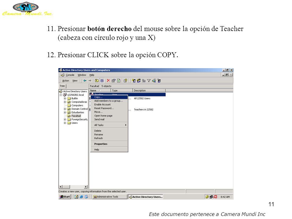 10 10.Colocar el mouse sobre la opción de Teacher (cabecita con círculo rojo y una X) presionar botón izquierdo del mouse para marcar en azul el área.