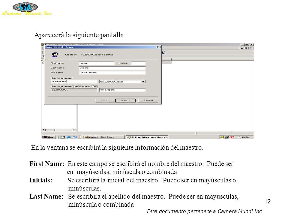 11 11.Presionar botón derecho del mouse sobre la opción de Teacher (cabeza con círculo rojo y una X) 12.Presionar CLICK sobre la opción COPY.