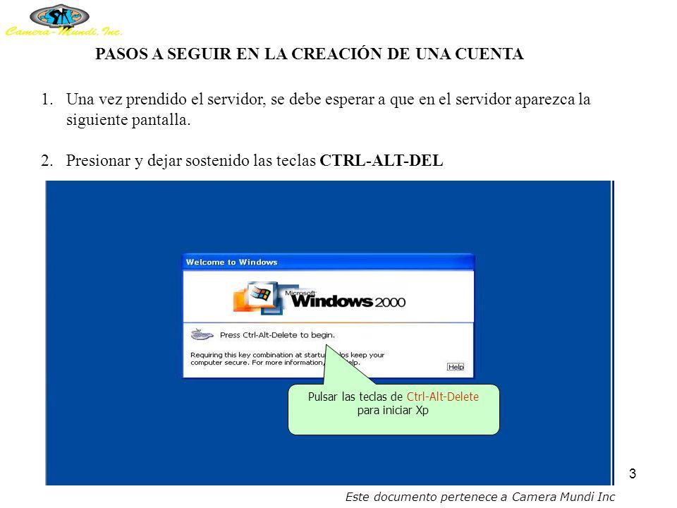 2 CREACIÓN DE CUENTAS PARA MAESTROS EN EL SERVIDOR El servidor contiene tres discos duros de 36.4 G.